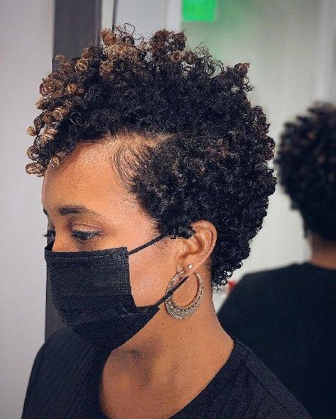 Soft Short Black hairstyles