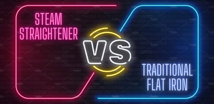 Steam flat iron hair Straightener vs Flat Iron regular