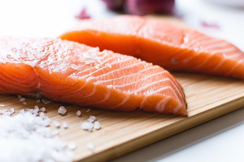 foods for hair growth salmon nhp