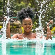 Going natural hair swimming