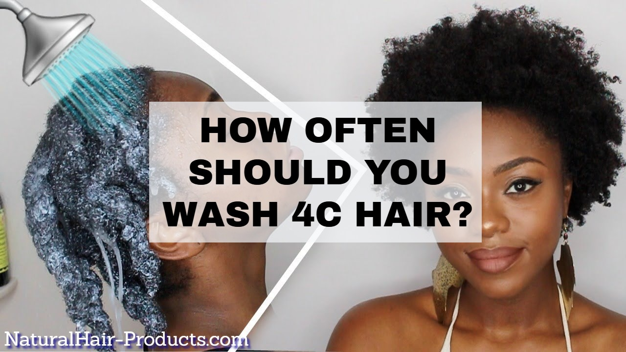 how often should 4C hair be washed? how often should you wash 4C hair? Answered.