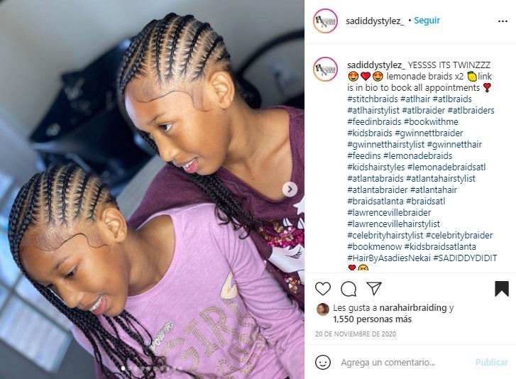 Lemonade braids for kids