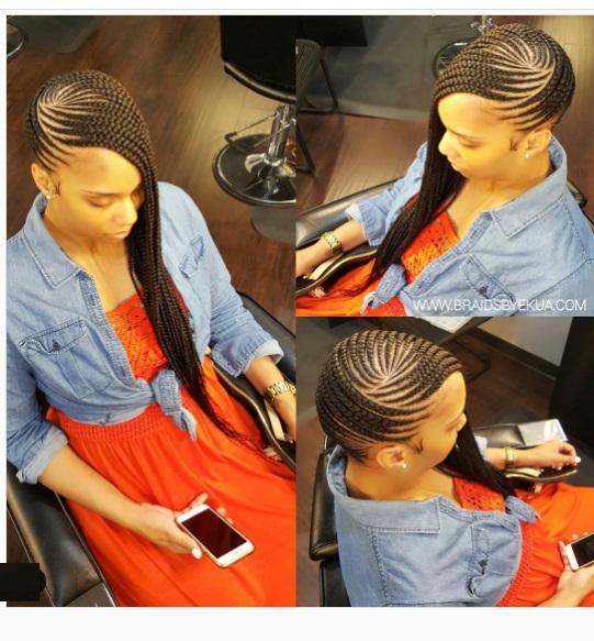 Cute long pretty Lemonade braids styles on pretty black woman. Lemonadebraids