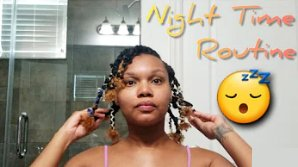 night routine for 4c natural hair nhp