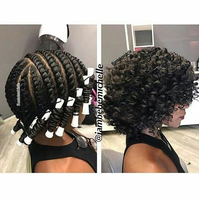 PERM ROD SET On Natural HAIR