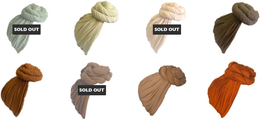 Pre-tied headwraps for natural hair & satin-lined Pre-Wrapped Turbans