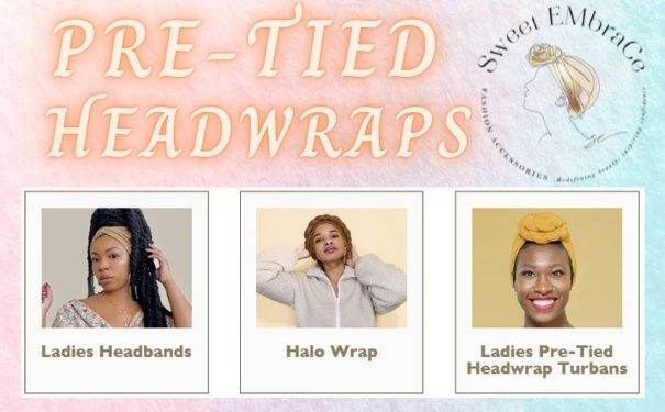 Pre-tied Head Wraps for Natural Hair